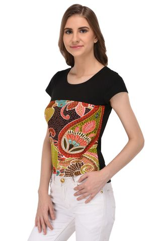 RIGO Multi Colored Abstract Print Top for Women