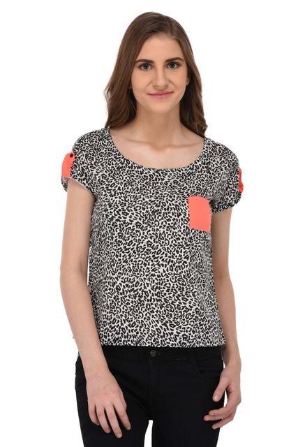 RIGO Animal Print Top for Women