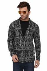 Rigo Charcoal Grey Open Cardigan Full Sleeve Shrug For Men