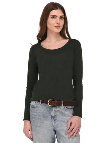 Rigo Green Full Sleeves Top for Women