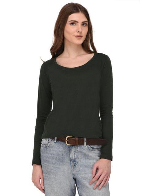 Rigo Green Full Sleeves Top for Women