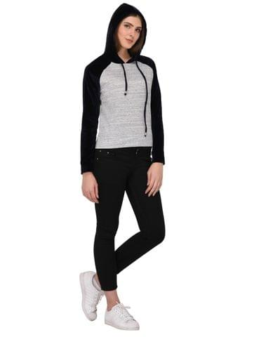 Rigo Velvet Hoodie Top for Women