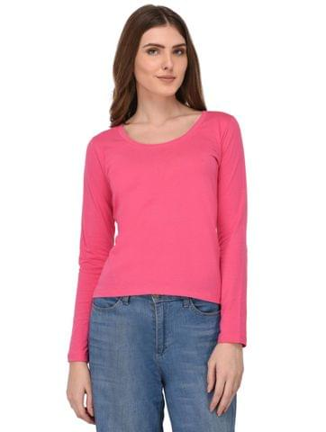 Rigo Pink Full Sleeves Top for Women