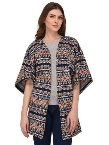 Rigo Multi Color Terry Kimono Shrug for Women