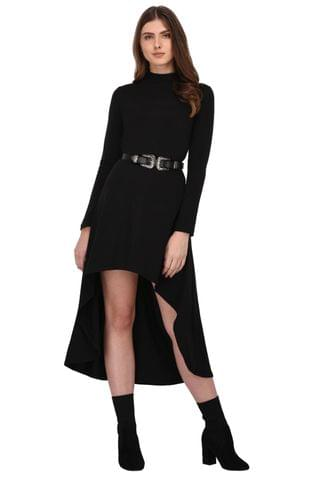 Rigo Black High Low Dress for Women