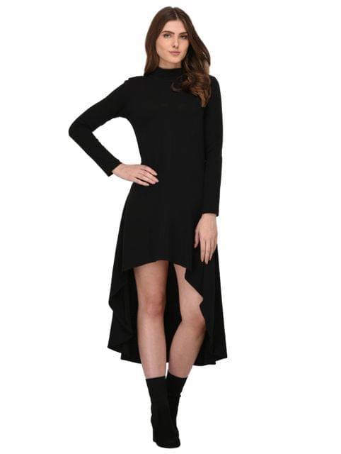 Rigo Black High Low Dress for Women