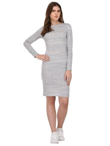 Rigo Multi Textured Bodycon Dress for Women