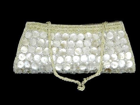 White Mother of Pearl Clutch - Pattern 2