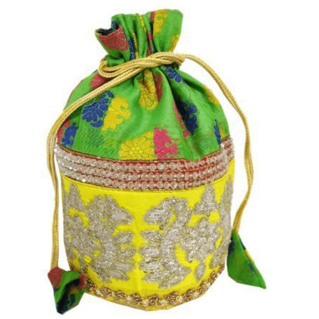 Embroidered Heavy Stone Work Potli-Multicolored 4