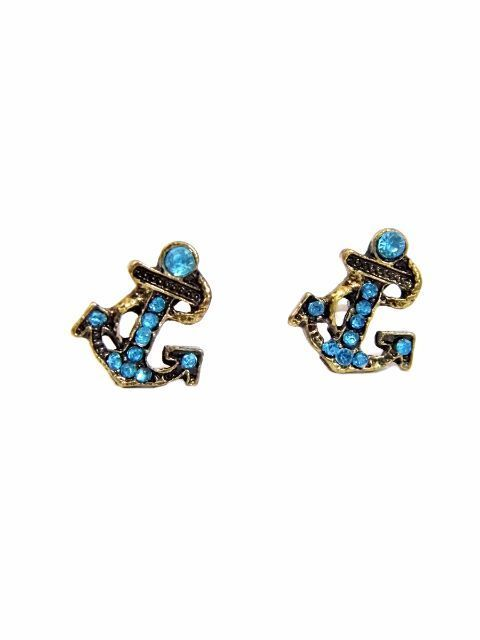 Blue Anchor Studs
