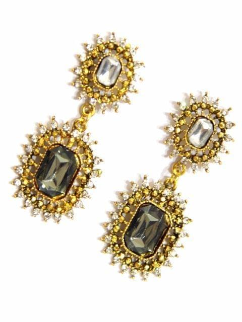 Black & Gold Danglers