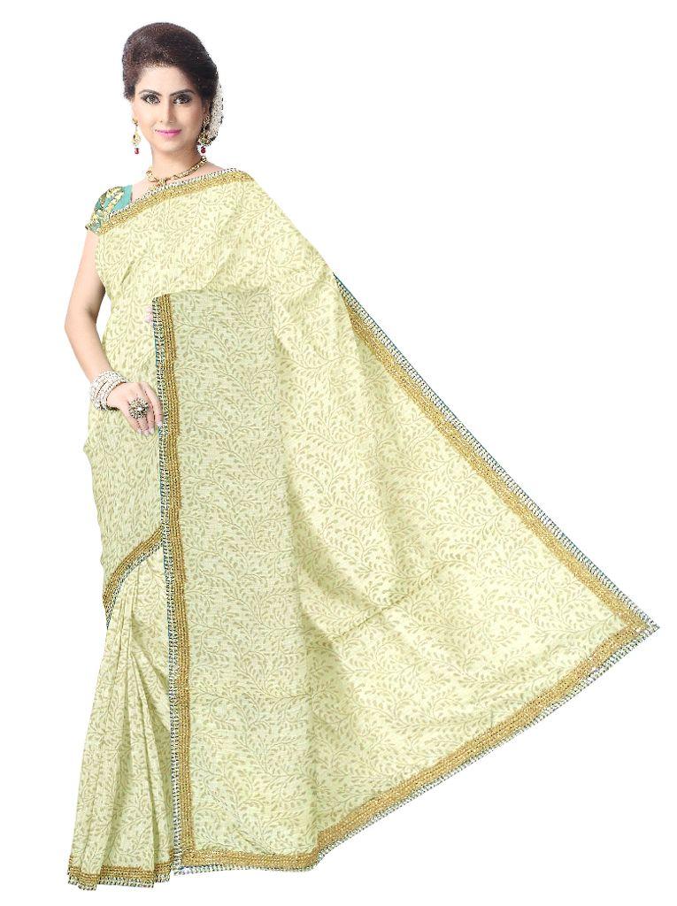 Handloom Khadi Cotton Saree with Lace Border