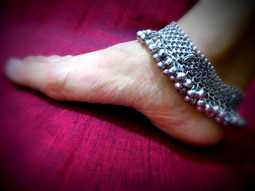 Festive Metal Anklets with Bells