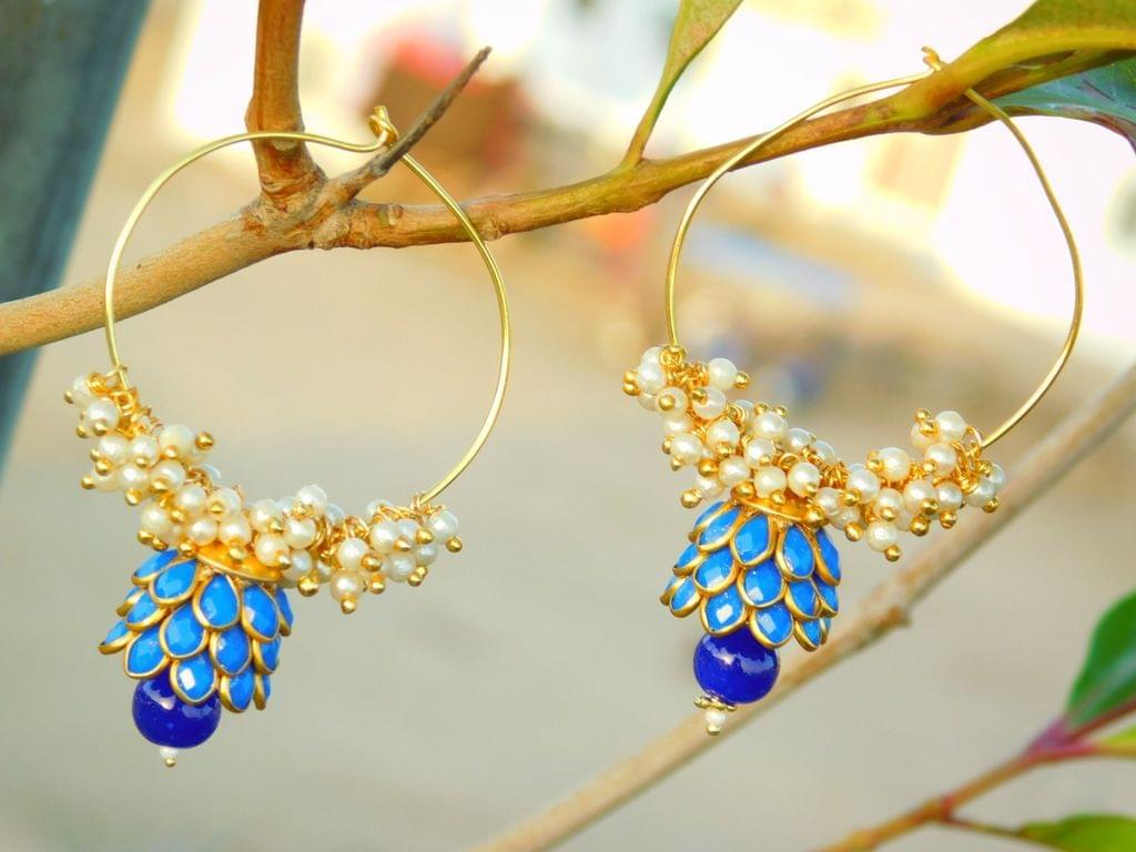 Pachi Hoop Earrings- Blue