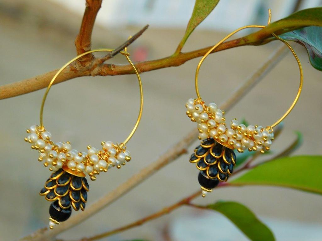 Pachi Hoop Earrings- Black