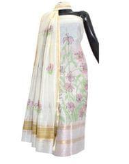 Maheshwari Silk Shadow Work Kurta Dupatta Set- Pattern 1