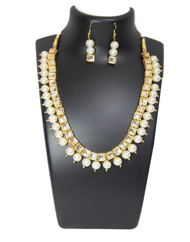 Kundan Meenakari Jewelry Set- Pearl Beads 1