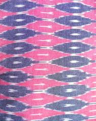Ikat Cotton Running Material- Pink&Grey Pattern (1 mtr/2.5 mtr)