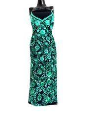 Unstitched Georgette Champa Work Kurta -Black&Green