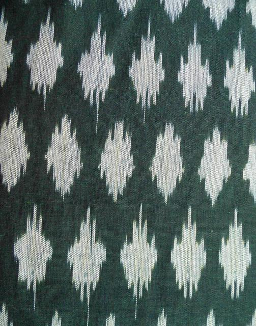 Ikat Cotton Running Material- Black & Grey (1 mtr/2.5 mtr)