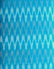 Ikat Cotton Running Material- Turquoise (1 mtr/2.5 mtr)