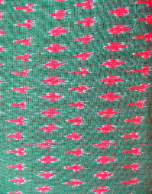 Ikat Cotton Running Material- Grey&Pink (1 mtr/2.5 mtr)