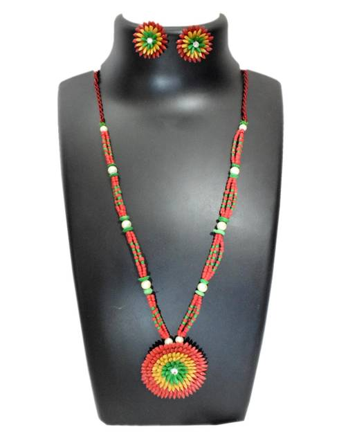 Paddy Grain Necklace Set-Multicolored 2