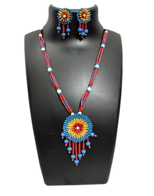 Paddy Grain Necklace Set- Multicolored 3