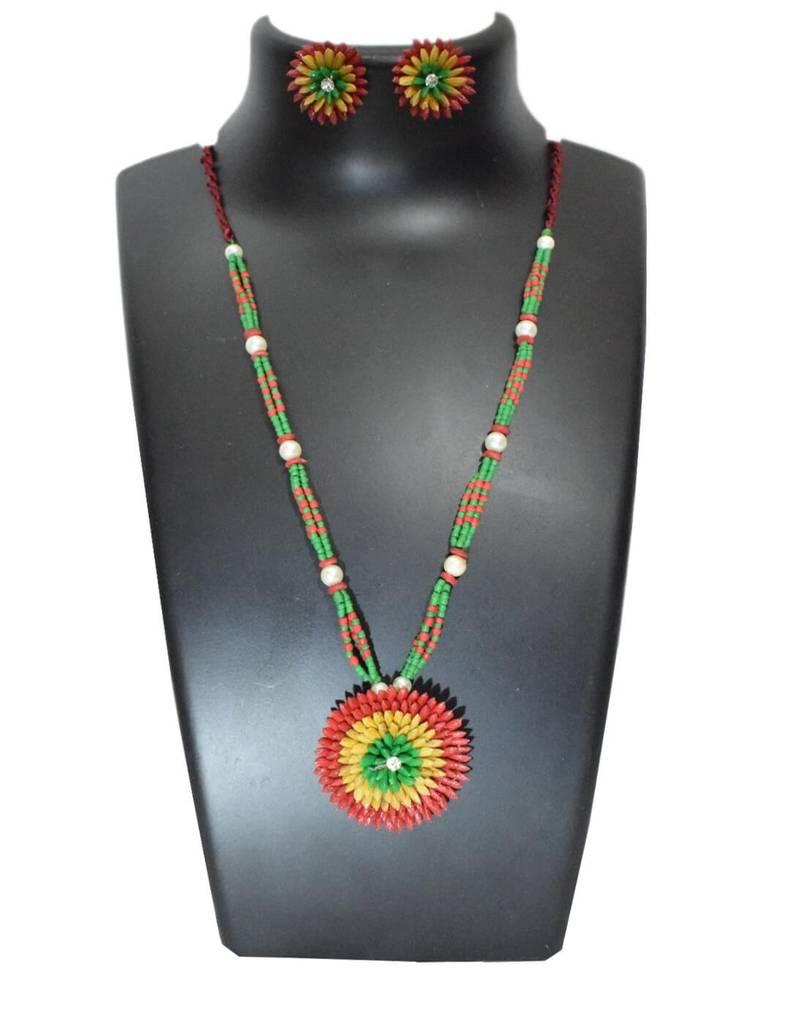 Paddy Grain Necklace Set-Multicolored 4