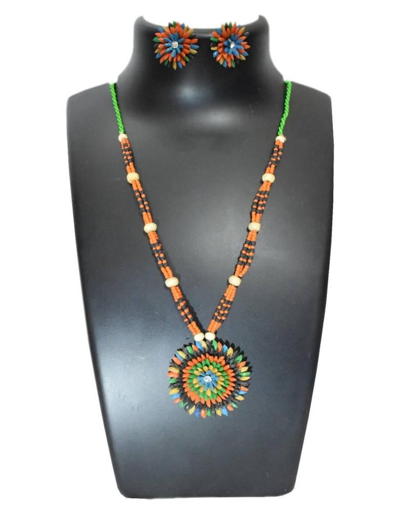 Paddy Grain Necklace Set- Multicolored 5