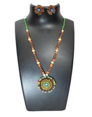 Paddy Grain Necklace Set- Multicolored 5