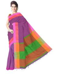 Bengal Handloom Cotton Linen Saree- Multicolor