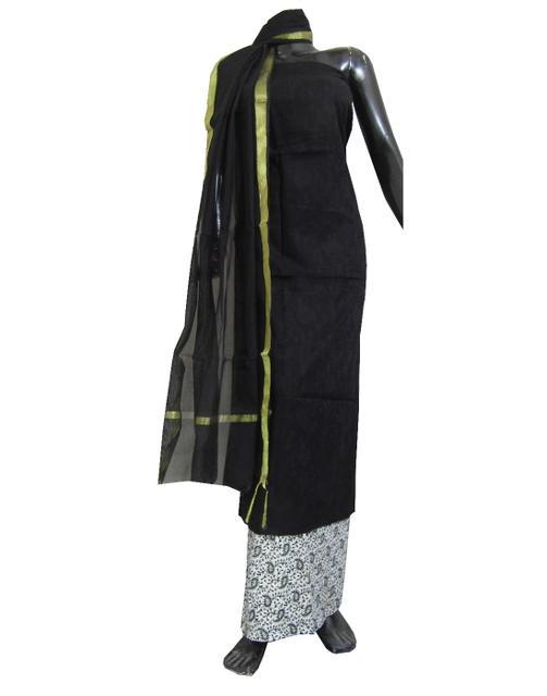Cotton Salwar Suit-Black&White