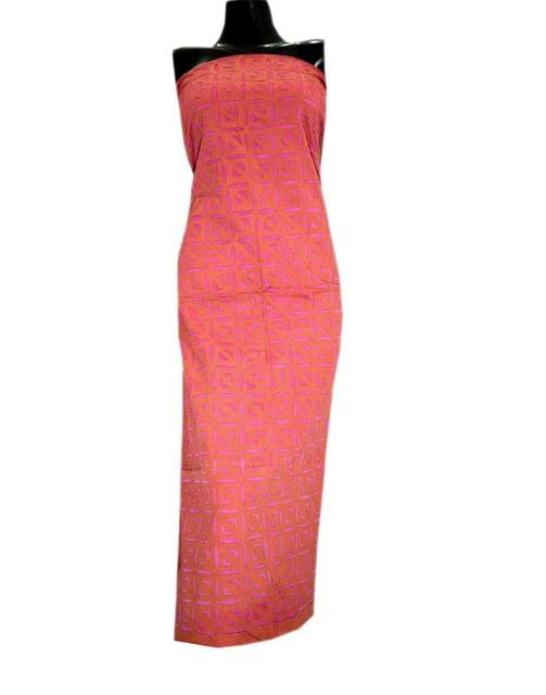 Cotton Cutwork Kurta-Orange&Pink
