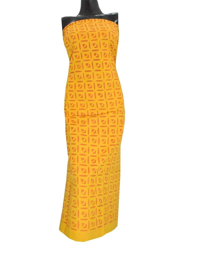Cotton Cutwork Kurta-Yellow&Orange