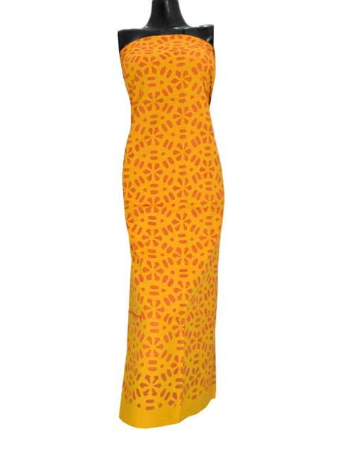 Cotton Cutwork Kurta-Yellow&Orange