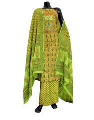 Cotton Bagh Print Salwar Suit-Green