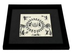 Framed Warli Pattern Sketch