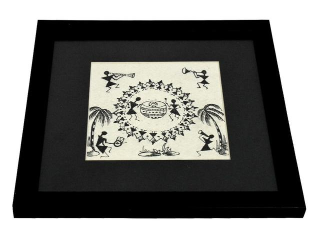 Framed Warli Pattern Sketch
