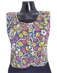 Reversible Kalamkari Jacket in Cotton- Pattern 5