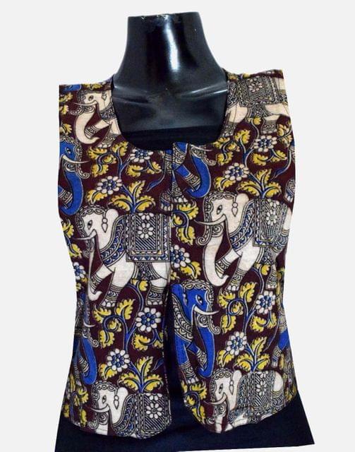 Reversible Kalamkari Jacket in Cotton- Pattern 9