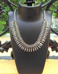 German Silver Kolhapuri Necklace- Pattern 3