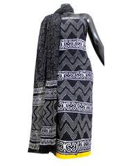 Bagru Print Cotton Kurta Dupatta Set -Black&White 2