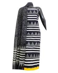 Bagru Print Cotton Kurta Dupatta Set -Black&White
