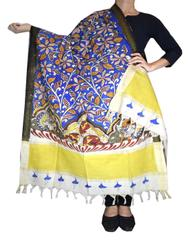 Pen Kalamkari Dupatta in Cotton- Pattern 2