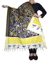 Pen Kalamkari Dupatta in Cotton- Pattern 5