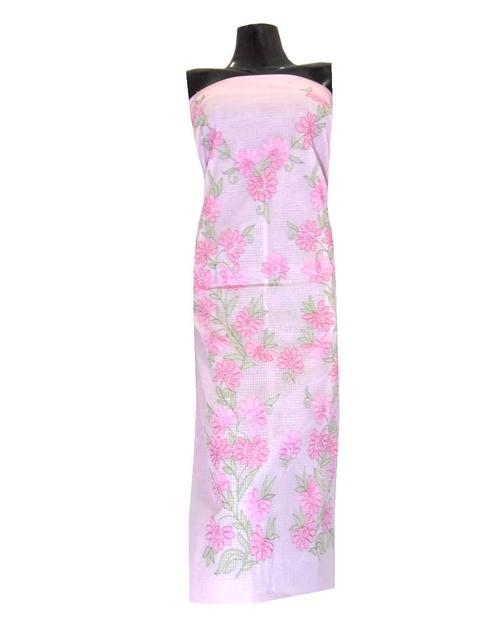 Kota Cotton Shadow Work Kurta -Light Pink 1