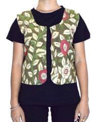 Reversible Kalamkari Jacket in Cotton- Pattern 12