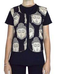 Reversible Kalamkari Jacket in Cotton- Pattern 13