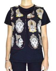 Reversible Kalamkari Jacket in Cotton- Pattern 14